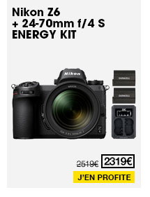 Nikon Z6 + 24-70mm f/4 S - ENERGY KIT