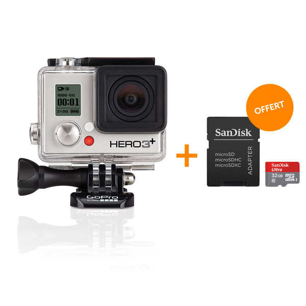 DIGIXO - Kit Hero 3+ Silver Edition + carte memoire Sandisk Ultra 32Go offerte